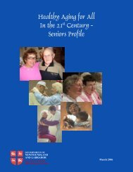 Healthy Aging for All In the 21st Century - Seniors Profile