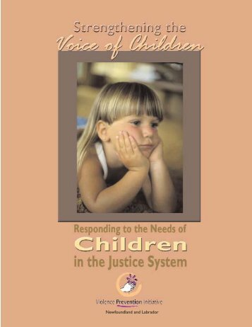 Strengthening the Voice of Children - Government of Newfoundland ...