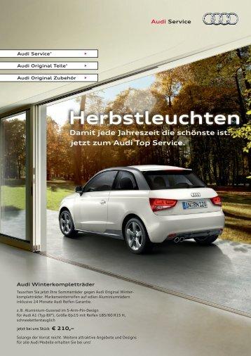 jetzt zum Audi Top Service. Herbstleuchten - Autohaus Elmshorn