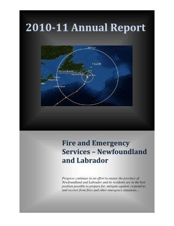 2010-11 Annual Report - Government of Newfoundland and Labrador