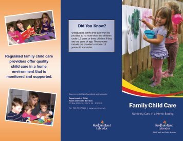 Family Child Care Brochure - Government of Newfoundland and ...