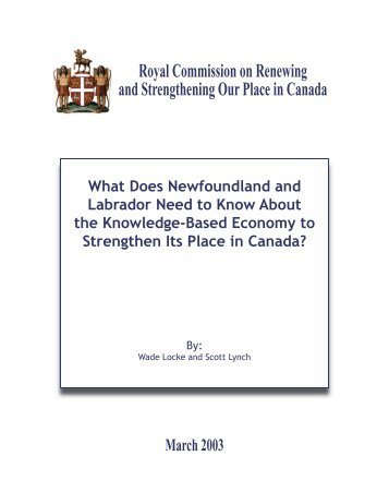 What Does Newfoundland and Labrador Need to Know About the ...