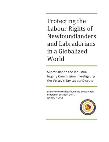January 7, 2011 - Government of Newfoundland and Labrador