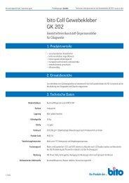 Technisches Datenblatt GK 202 - Bito AG