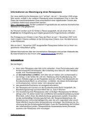 Informationen zur Beantragung eines Reisepasses - Stadt Bayreuth