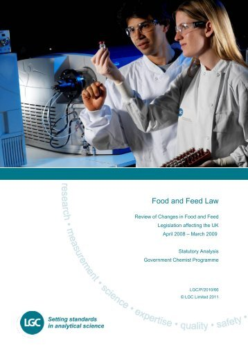 Review of food feed legislation Apr 08 - Mar 09 - Government Chemist
