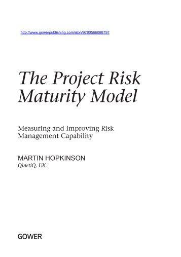 The Project Risk Maturity Model - Ashgate
