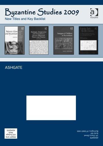 Byzantine Studies 2009 - Ashgate