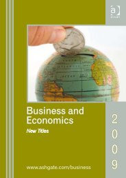Business and Economics - Ashgate
