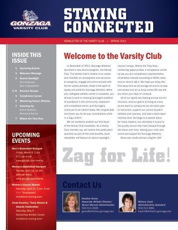 View Spring 2012 Varsity Club Newsletter - Gonzaga University ...