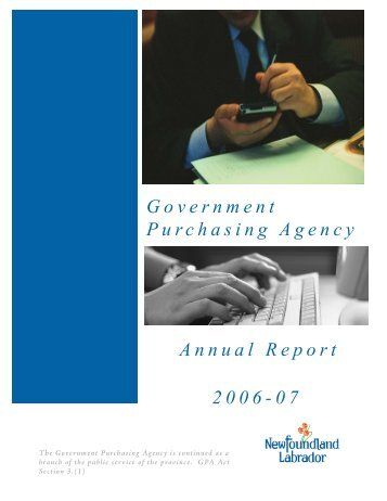 Annual Report 2 - Government Purchasing Agency - Government of ...