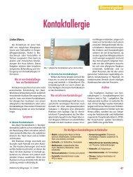 Kontaktallergie - Gesellschaft für Pädiatrische Allergologie und ...