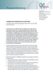 Pressemitteilung - Gesellschaft für Pädiatrische Allergologie und ...