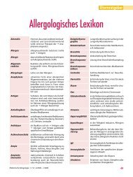 Allergologisches Lexikon - Gesellschaft für Pädiatrische Allergologie ...