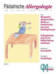 Nahrungsmittel - Gesellschaft für Pädiatrische Allergologie und ...