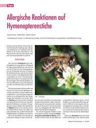 Allergische Reaktionen auf Hymenopterenstiche - Gesellschaft für ...