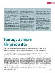 Beratung zur primären Allergieprävention - Gesellschaft für ...