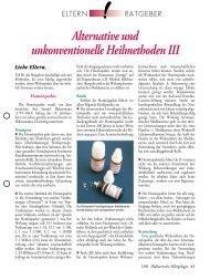 Alternative und unkonventionelle Heilmethoden III - Gesellschaft für ...