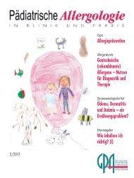 Topic - Gesellschaft für Pädiatrische Allergologie und Umweltmedizin