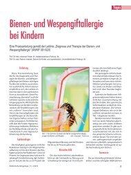 Topic: Bienen- und Wespengiftallergie bei Kindern