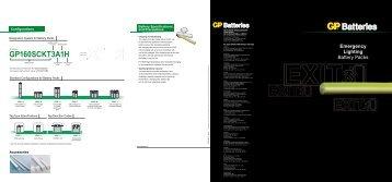 Emergency Lighting Battery Packs - GP Batteries