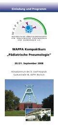 "WAPPA Kompaktkurs ""Pädiatrische Pneumologie"""