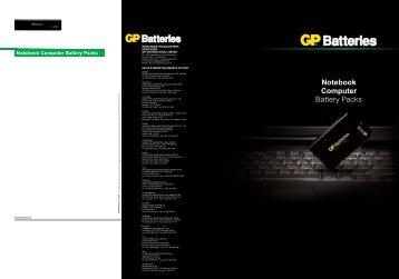 Notebook Computer Battery Packs - GP Batteries