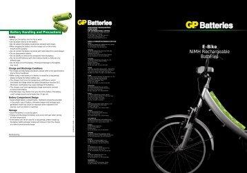 E-Bike Batteries Packs - GP Batteries