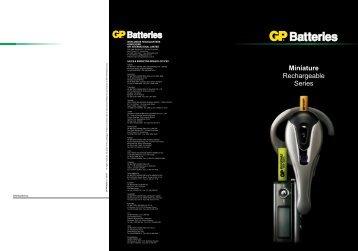 Miniature Rechargeable Series - GP Batteries