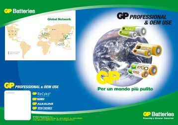 GP cover PROFESSIONAL - Blu Batterie