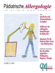 Gesellschaft für Pädiatrische Allergologie und Umweltmedizin