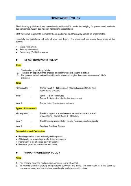 Secondary homework policy custom creative essay ghostwriting for hire us