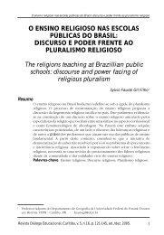 Discurso e poder frente ao Pluralismo Religioso. - PUCPR