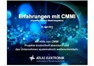 Erfahrungen mit CMMI - GPM Deutsche Gesellschaft für ...