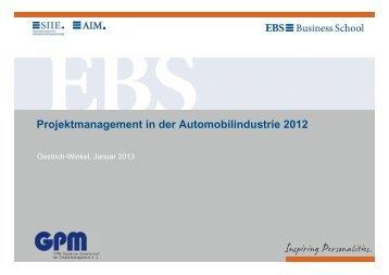 Ergebnisse (PDF) - GPM Deutsche Gesellschaft für ...