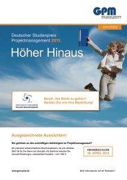 Höher Hinaus - GPM Deutsche Gesellschaft für Projektmanagement ...