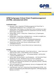 Jahresbericht 2012 - GPM Deutsche Gesellschaft für ...