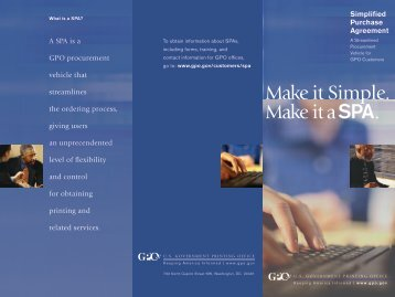 Download Our Brochure - U.S. Government Printing Office
