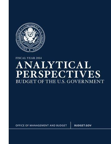 aNaLYTICaL pERSpECTIVES - U.S. Government Printing Office