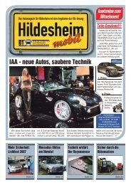 IAA - neue Autos, saubere Technik - Hildesheim mobil