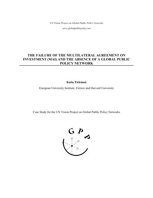 The Failure Of The Multilateral Agreement On Investment Mai