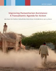 Improving Humanitarian Assistance: A Transatlantic Agenda for Action