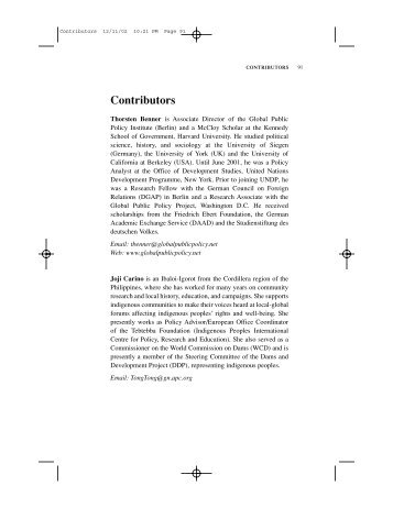 Contributors - Global Public Policy institute