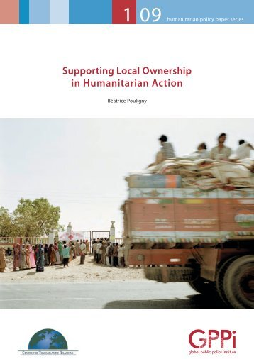 Supporting Local Ownership in Humanitarian Action - Global Public ...