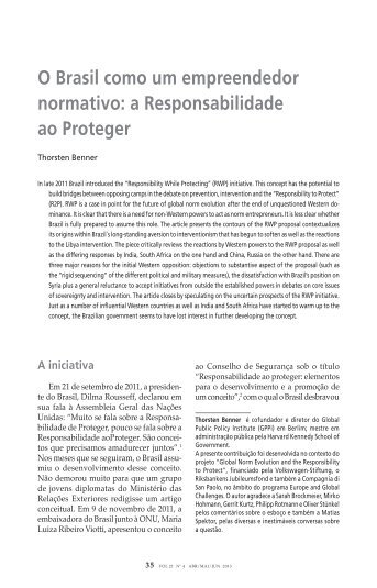 a Responsabilidade ao Proteger - Global Public Policy institute