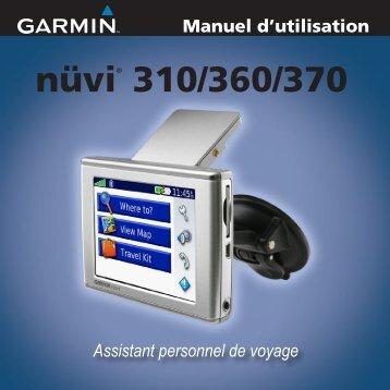 nuvi 310/360/370 Manuel d'utlilisation - Garmin
