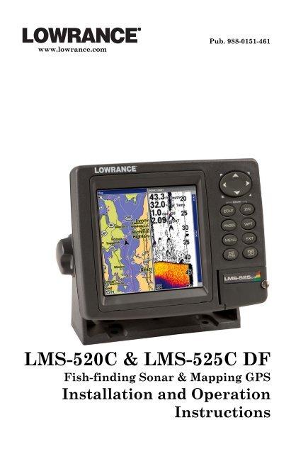 LMS-525C DF & LMS-520C Manual - Lowrance