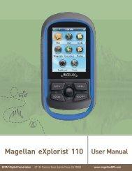 Magellan EXplorist 110 User Manual - Mecinca