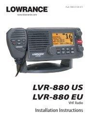 LVR-880 US LVR-880 EU - Lowrance