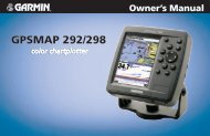 GPSMAP 292/298 Owner's Manual - Garmin
